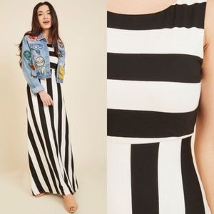 Modcloth Striped Maxi Dress NEW